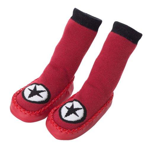 Baby Winter Socks Warm Socks Toddler Shoes Non-slip [Star-1]