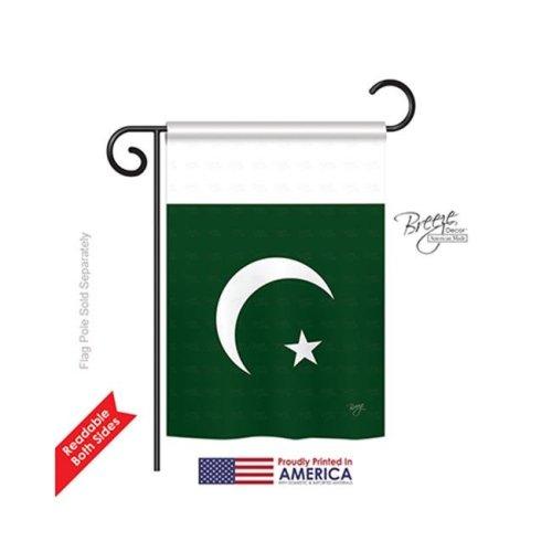Breeze Decor 58271 Pakistan 2-Sided Impression Garden Flag - 13 x 18.5 in.