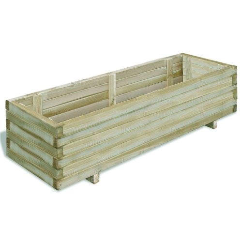 Rectangular Wooden Planter 120 x 40 x 30cm