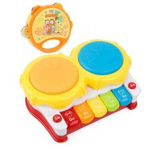 Musical Electric Baby Toys Hand Drum Tapping Instrument Percussion Set for Children, Piano@Rattles