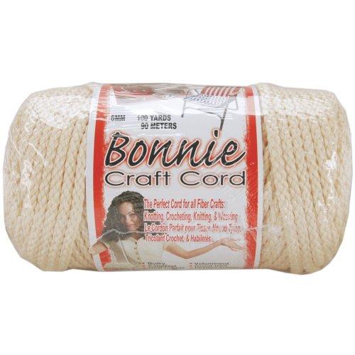 Bonnie Macrame Craft Cord 6mmX100yd-Flesh (Cream)