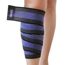 Set of 2 Leg Guard Safety Protector Calf Leg Support Band Twine Blue/black