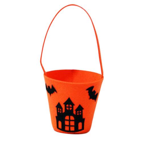 Trick Or Treat Bat Halloween Party Decor Children Prop Candy Storage