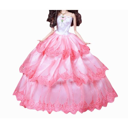 New Decent Beautiful Wedding Dress Skirt For 11.81-inch Doll-06