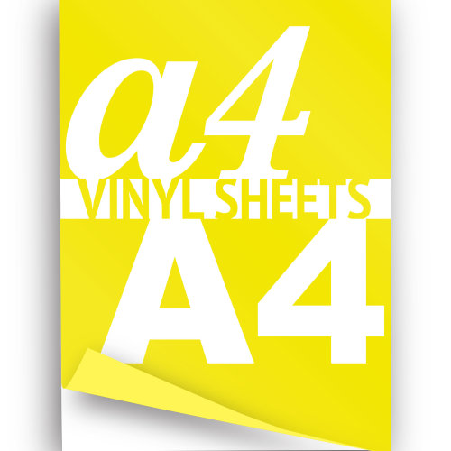 Neon Yellow Iron On Garment A4 Vinyl Sheets  Heat Transfer HTV