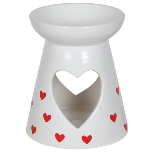 Aroma Cut Out Heart Melt Burner, Red