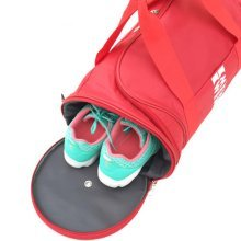 Durable Sport Bag Travel Bag Gym Duffel Bag Workout Bag with Shoes Compartment, E