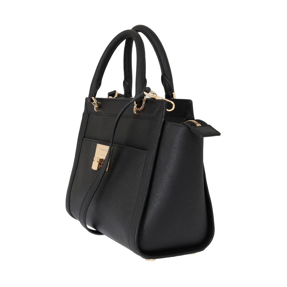 e245abf965a7 ... Michael Kors Handbags Black TINA Leather Satchel Bag - 2 ...