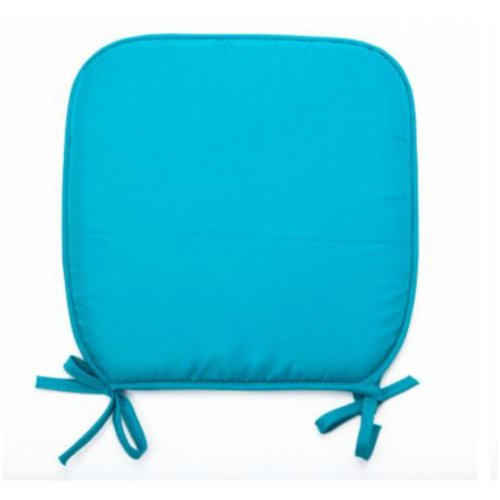PACK OF 4 TEAL REMOVABLE CHAIR SEAT PADS WITH TIES CHAIRS OFFICE HOME GARDEN FOAM CUSHIONS