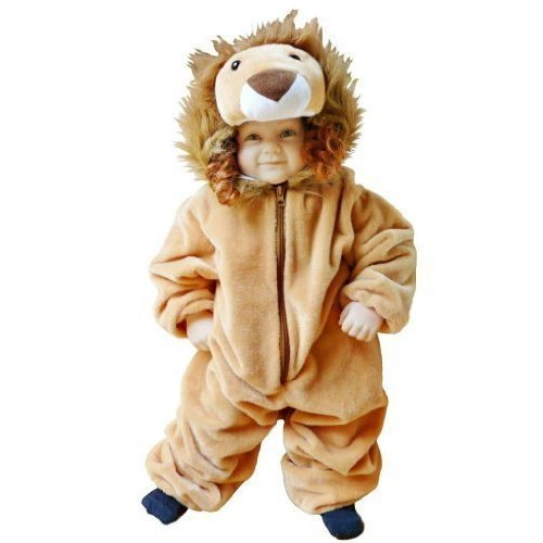 F57 size 12-18 month (74-80 cm) Lion costume for babies and toddlers, convenient to carry on normal clothes