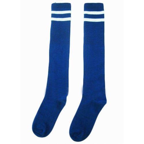 Breathable Football Game Socks Knee Length Socks For Kids, Blue