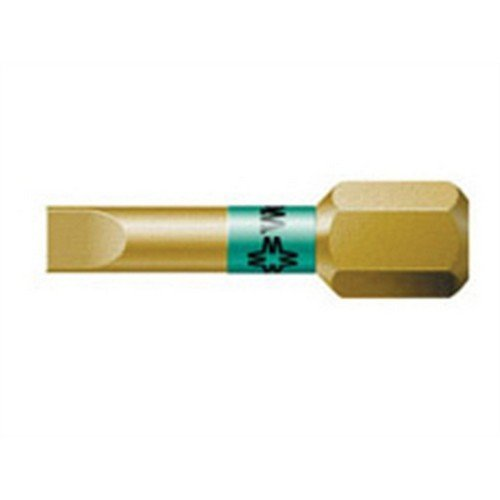 Wera 5056088001 800/1 BTH BiTorsion Slotted Bits Extra Hard 6.5 x 25mm Pack of 10