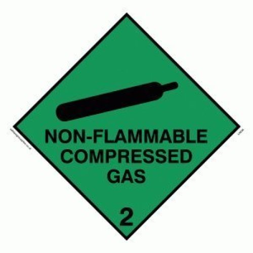 "Viking Signs LN636-S10-MG""Non-Flammable Compressed Gas"" Sign, 1 mm Flexible Magnetic, 100 mm x 100 mm"