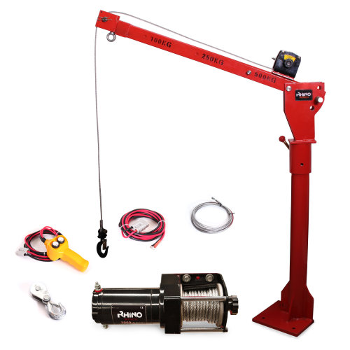 Portable 12v Electric Crane Hoist, Deer Lift 3000lb Rhino Winch - over 1 Ton Lift