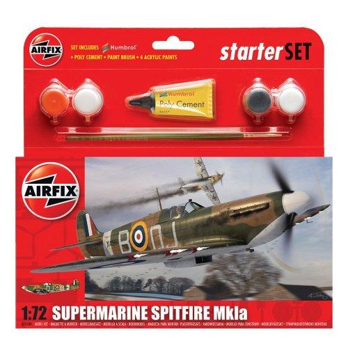 Airfix A55100 1:72 Supermarine Spitfire Mkia Military Aircraft Gift Set