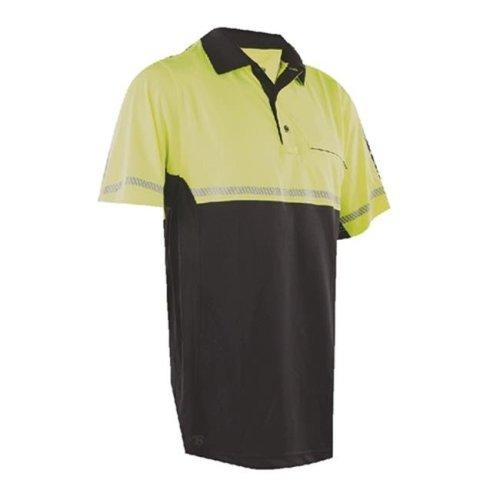 Tru-Spec TSP-4324008 24-7 Bike Performance Polo Shirt with Reflective Tape, Hi-Vis Yellow - 3XL