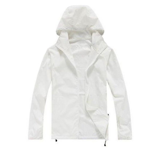 Thin Sun Protective Clothing Women's Clothing Long Sleeve Shirts Raincoat White