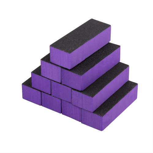 TRIXES 10Pc Purple 3-Way Nail Buffer Block Files