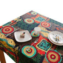 Sunflower Tablecloth Cabinet Cover Cloth Hotel/Restaurant Tablecloth 90X90 CM