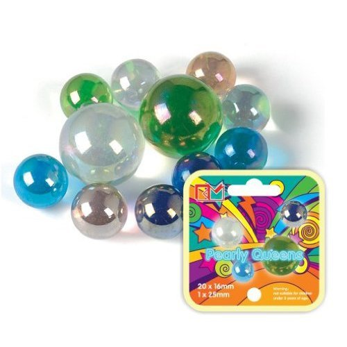 King Marbles KM038  Pearly Queens Classic Marbles-Multicolor
