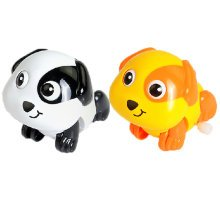 Set of 2 Cute Animals Wind-up Toy for Baby/Toddler/kids, Pup(Color Random)