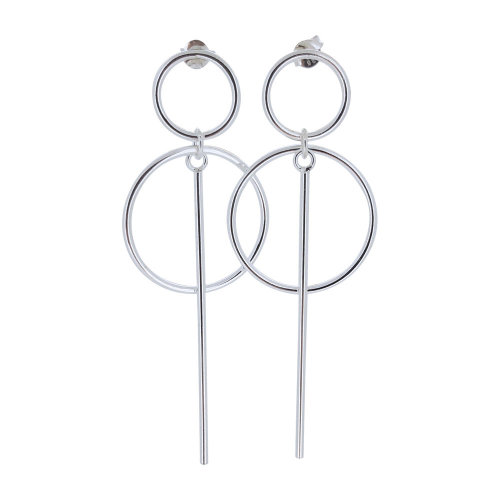 fe704fe42 Striking 925 Sterling Silver Circle Drop Earrings on OnBuy