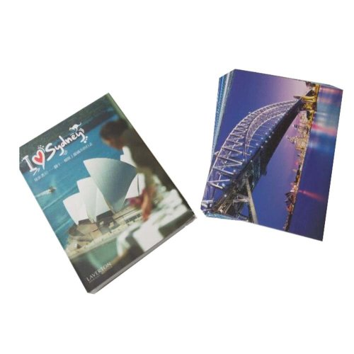 Postcard Hand Set Collection Set City View Painting Greeting Card  #3