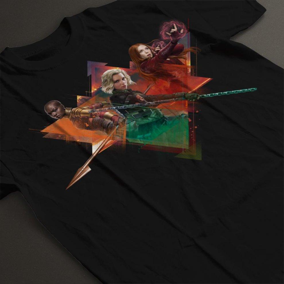4aca77d2a ... Marvel Avengers Infinity War Widow Okoye Witch Montage Women's T-Shirt  ...