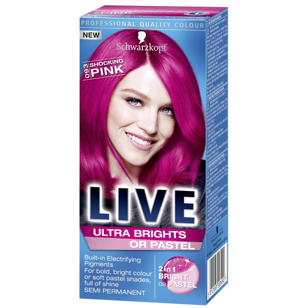 Schwarzkopf LIVE Ultra Brights 93 Shocking Pink Hair Colour