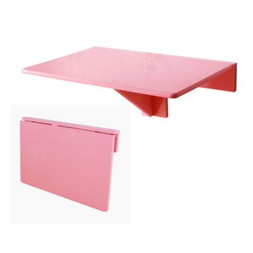 SoBuy® FWT03-P, Folding Wall-mounted Drop-leaf Table Desk Kitchen Dining Table, 60x40cm, Pink