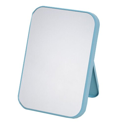 "Portable Mirror Single-sided Vanity Mirror Tabletop Makeup Mirror 8.66""x5.9""(Light Blue)"