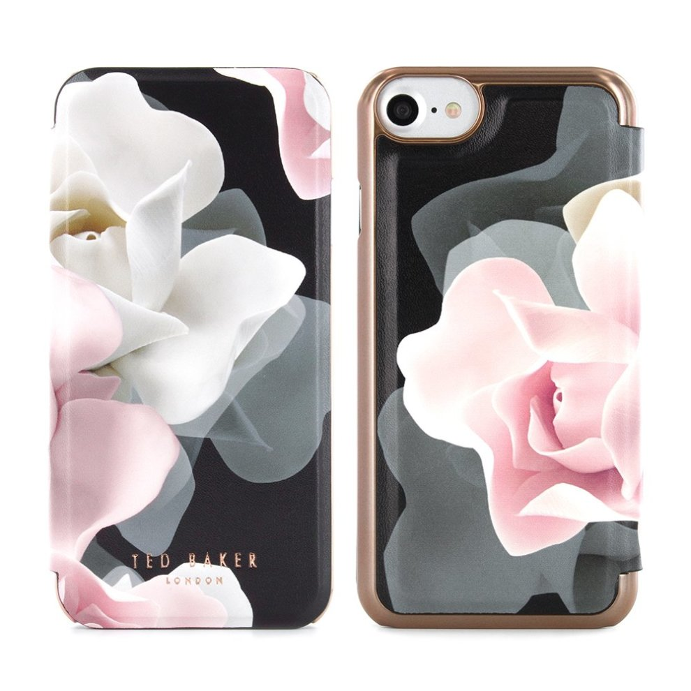 new arrival bbc48 df6da Ted Baker Official AW16 iPhone 6 / 6S Case - Luxury Folio Case/Cover in  Flower Design for Women with Built-In Interior Mirror for the Apple  iPhone...