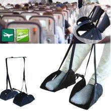Portable Travel Airplane Foot Pad Adjustable Train Flight Stand Footrest Hammock