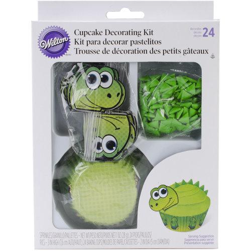 Cupcake Decorating Kit Makes 24-Dinosaur