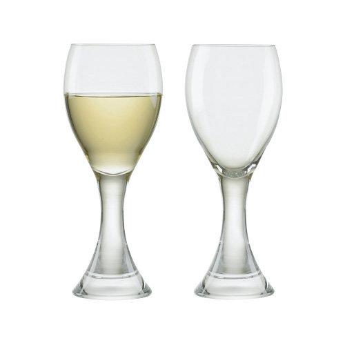 Manhattan White Wine Glasses, Set of 2, Transparent