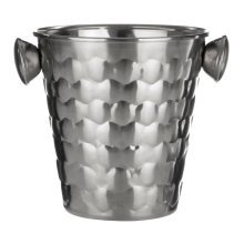 Honey Bee Ice Bucket with Handles, Stainless Steel - Silver