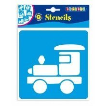 Pbx2470638 - Playbox - Stencils (vehicles) - 145 X 145 Mm - 6 Pcs