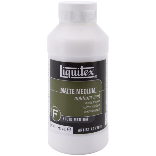 Liquitex Matte Acrylic Fluid Medium-8oz