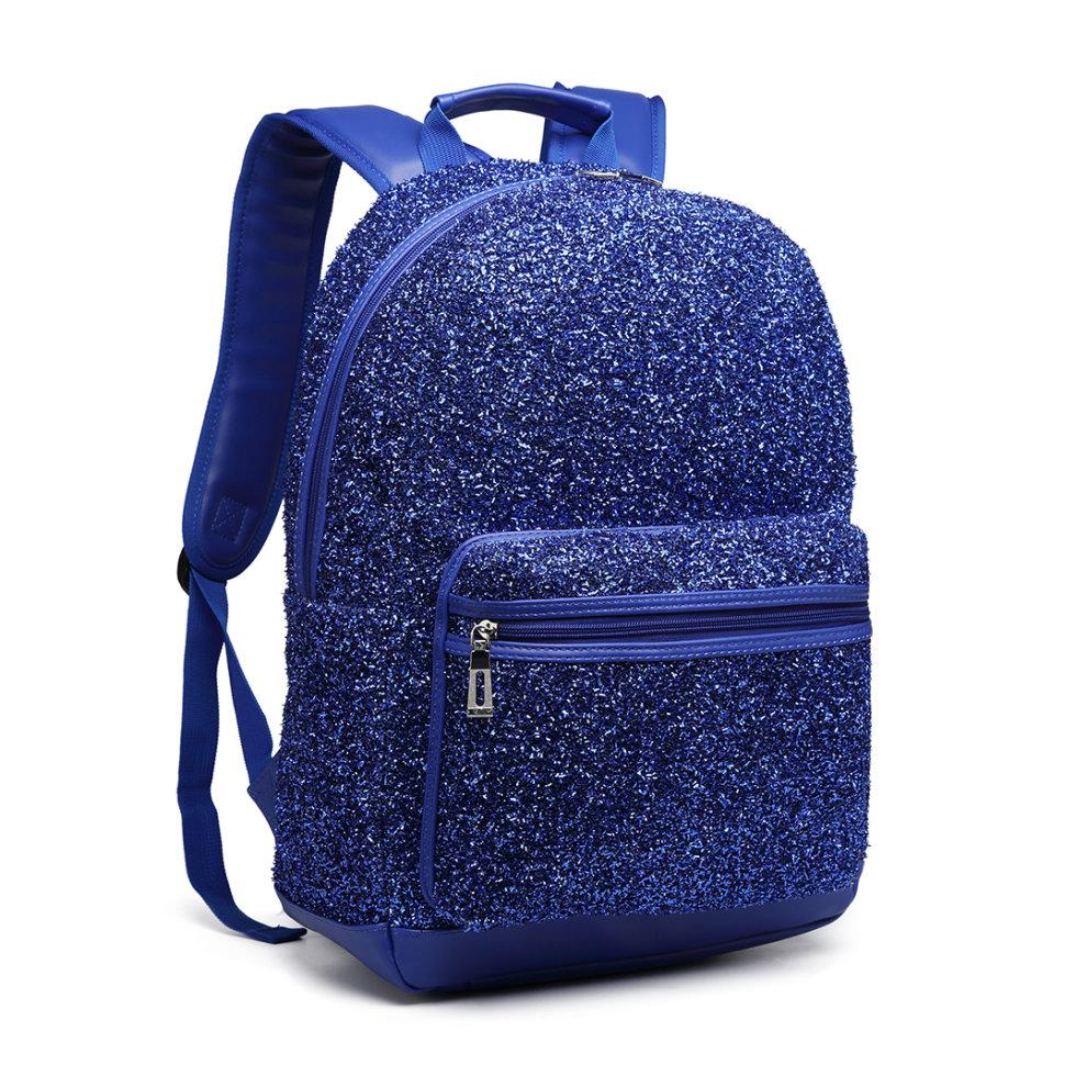 db8bd70e7 ... Miss Lulu Women Glitter Backpack Girls School Bag Rucksack - 1 ...