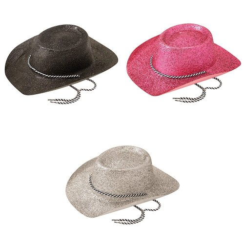 Bristol Novelty Unisex Adults Glitter Cowboy Hat