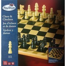 Chess & Checkers solid wood board game set