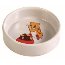 Trixie Ceramic Bowl With Motif For Hamster, 90ml - Hamsterml 90cm -  bowl ceramic hamster motif trixie ml 90 90ml cm