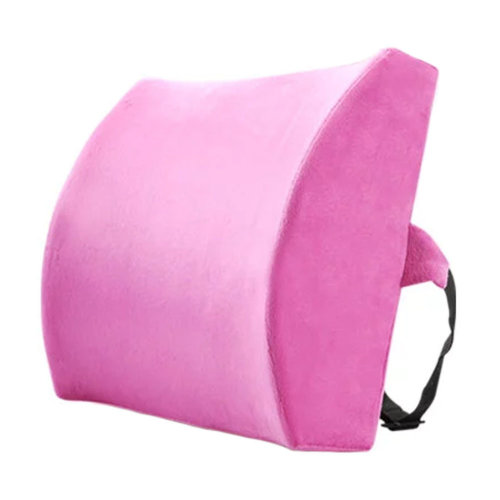 Lumbar Support Back Cushion Pillow Backrest for Home/Office/Car Seat - Fuchsia