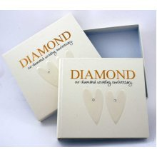 Diamond Wedding 60th Anniversary Photo Album and Keepsake box