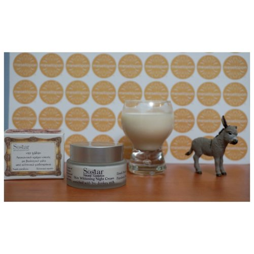 Greek Women Skin Whitening Night Cream Face Neck Bio Donkey Milk 50ml