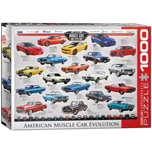 Eg60000682 - Eurographics Puzzle 1000 Pc - Muscle Car Evolution