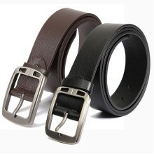 Men's Vintage Leather Cowhide Waistband Belt Pin Strap Casual Adjustable Belts