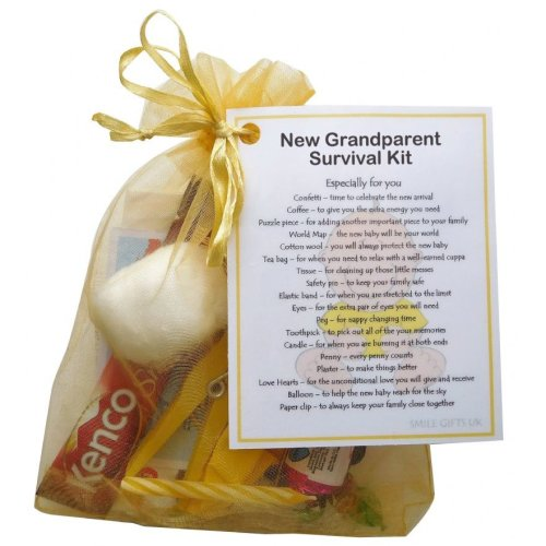 New Grandparent's Survival Kit (Yellow) - Great novelty gift for a new grandparent!