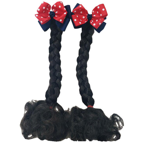 Fashion Children Girls Braided Wigs Hair Extensions Hair Clip Kids Hairpiece Wig, G