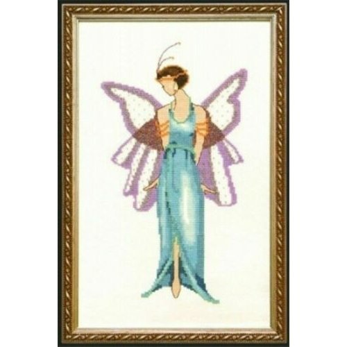 Pixie Couture Collection Jade Blue Counted Cross Stitch Chart Pattern